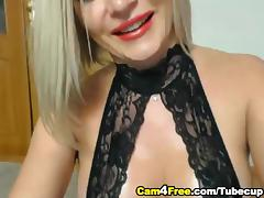 HOT Blonde Masturbates and Squirts tube porn video