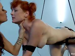 Redhead Audrey Hollander gets her ass stimulated with electricity tube porn video