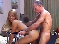 Jenny fuck with muscular grandpa Harvey for cash tube porn video