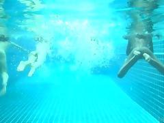 4 little mermaids in a pool tube porn video