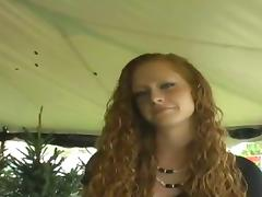 Amberr is a Curly Haired Ginger who Loves it Doggystyle! tube porn video