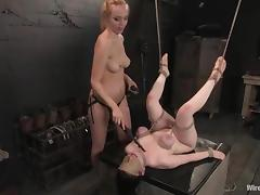 Busty Bruentte used as a Sex Toy by Annette Schwarz is Lesbian BDSM tube porn video