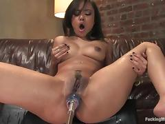Annie Cruz gets her juicy ass fucked hard by a sex machine tube porn video