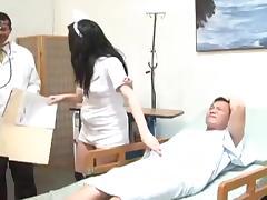 Brunette nurse Vanessa Naughty enjoys a gangbang in hospital tube porn video