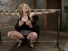 Lily Labeau gets hung up and enjoys having a toy in her snatch tube porn video