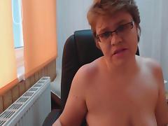 Granny in black Stockings tube porn video
