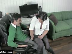Mean Ballbusting Co-Worker tube porn video