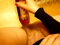 Russian Bottle Fucker Meets Ape Man tube porn video