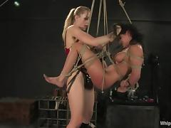 Poor Charley Chase gets dominated by Annette Schwarz tube porn video