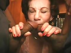 Grannies in group sex tube porn video