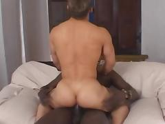 Gay is taking that black pole in his mouth tube porn video
