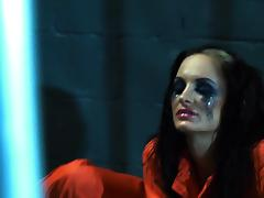 Nasty Alektra Blue gives hot blowjob to prison officer tube porn video