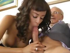 Euro ebony whore fucks a balding geezer tube porn video