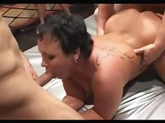 Shorthair-big beautiful woman Group-Sex 1 tube porn video