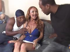 Sweet Janet Mason Gets Gangbanged Hard By Several Black Guys tube porn video