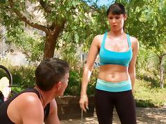 Sporty Eva Karera gets fucked hard in the mountains tube porn video
