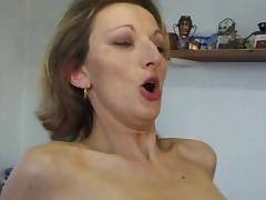 French MILF anal in stockings and heels. tube porn video