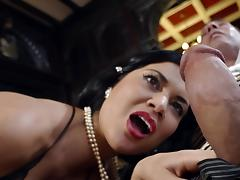 British chick Jasmine Jae bangs hard tube porn video