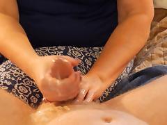 Wife gives Ballbusting Handjob tube porn video