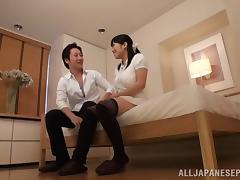 Bit titted Ai Satou enjoys a hard cock ride tube porn video