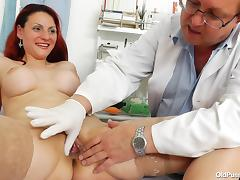 redhead pays visit to gynecologist tube porn video