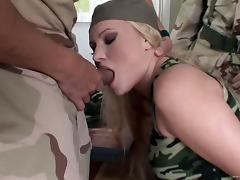 Military hostage is getting fucked by two officers tube porn video
