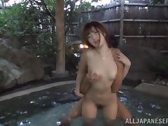 Horny Japanese angel gets fucked in the hot tub tube porn video