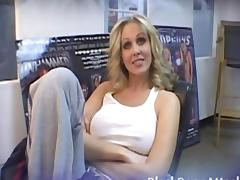 Blond Julia Ann gets fucked by a BBC tube porn video
