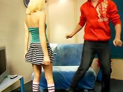 Incredible blonde teen enjoys a pussy eating fun tube porn video