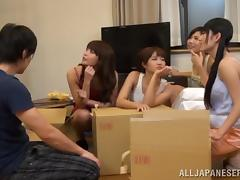 Horny Japanese Couple Fucking in a Public Hostel tube porn video