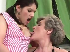 Old and young lesbians in action tube porn video
