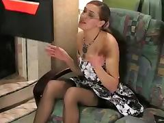 Russian Business Woman in Nylons Acquires Screwed tube porn video