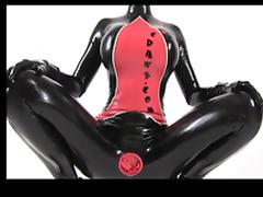 Latexcrazy Condom Catsuit and Latex Lucy tube porn video
