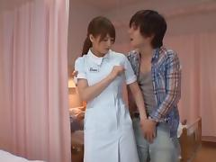 Akiho Yoshizawa Japanese nurse has sex in the hospital tube porn video