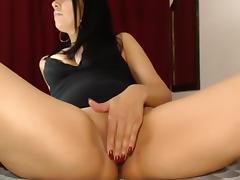 Rubbing my moist twat online tube porn video
