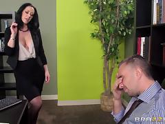 Jayden Jaymes is fucked silly by a guy until he cums on her tits tube porn video