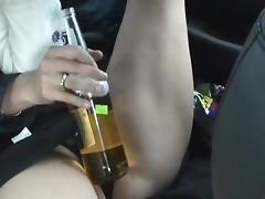 Pretty nice-looking brunette and her bottle tube porn video