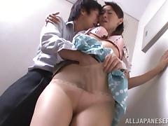 Hot And Kinky Asian Couple Fucks On The Stairs Hardcore tube porn video