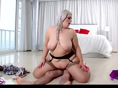 Hot BBW Blonde Fucks Her Guitar Instructor in Stockings tube porn video