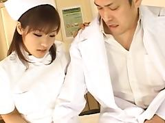 Nao Ayukawa Asian doll in nurse uniform gets a hard fucking tube porn video
