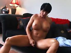 Hot Mature Busty Brunette Cougar Bangs and Wears It tube porn video