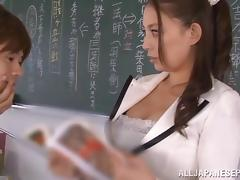 Horny teacher Mako Oda pleases her students tube porn video