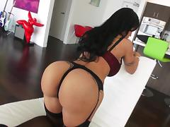 Jewels Jade licks a cockhead and gets her ass fucked deep tube porn video