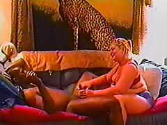 BBW blonde is fucked by a big black cock in vintage clip tube porn video