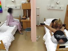Japanese bitch seduces a man and fucks him in a hospital ward tube porn video