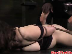 Hogtied and gagged sub tormented by dom tube porn video