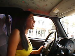 Second chick to ever drive the BUS tube porn video