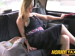 HornyTaxi Horny after interview and gagging for big cock tube porn video