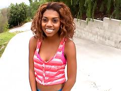 Black girl loves cum on her face tube porn video