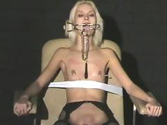 Extreme needle torture and hardcore bdsm of blonde slavegirl tube porn video